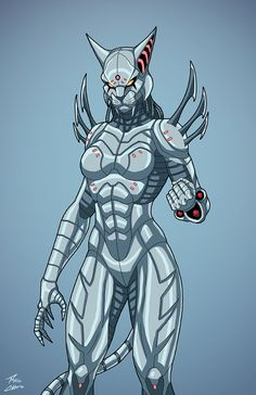 Cyber-Cat (Earth-27) commission by phil-cho on DeviantArt