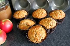 Deb's Dust Bunny: Low Fat Applesauce and Oat Muffins