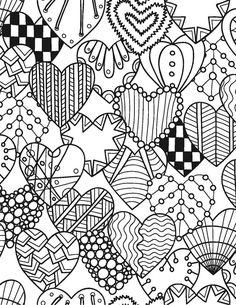 You are getting married! Let yourself be swept away into a world of serenity and happiness as you color in the beautiful floral, heart and other images in this unique book. The designs are of various Valentine Coloring Pages, Heart Coloring Pages, Adult Coloring Book Pages, Printable Adult Coloring Pages, Colouring Pages, Coloring Books, Pattern Coloring Pages, Cupcake Coloring Pages, Unique Coloring Pages