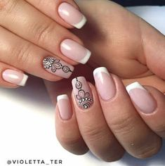 Neutrality is not synonymous with beige. Just because nail manicures aren't bold, like dark acrylic nails or ornately decorated high heel nails, doesn't mean they… Love Nails, Fun Nails, Pretty Nails, French Nails, Dark Acrylic Nails, Henna Nails, Mandala Nails, Finger Nail Art, Nagel Gel