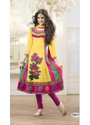 The traditional Mughal Anarkali suit comprises of an Anarkali salwar kameez. Buy this dress at http://just4evesboutique.in