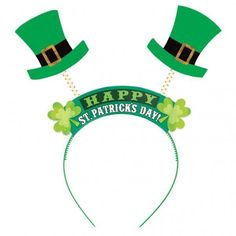 St Patricks Day Top Hat Headbopper Headband. Leprechaun CostumeLeprechaun  ... 7ba5860c0d01
