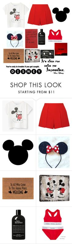"""DISNEY IS FOR ADULTS"" by lala2002 ❤ liked on Polyvore featuring Alice + Olivia, Disney, philosophy and Calvin Klein"