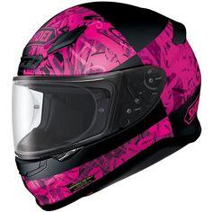 Shoei-NXR-Boogaloo-Matt-Black-Pink-Motorcycle-Helmet-Womens-Ladies-Girls-Sports