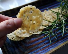 asiago-rosemary crisps from my Primal Living board.  Delicious, but very time intensive.  Only made these once, but would try again.