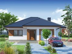 Modern house plans for young couples - Houz Buzz Simple House Plans, My House Plans, Simple House Design, Bungalow Floor Plans, Modern Bungalow House, House Plans South Africa, One Storey House, House Outside Design, House Construction Plan