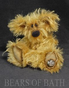Biscuit the Bear a 6 inch mohair artist bear by Bears of Bath #BearsofBath 6 Inches, Biscuit, Bears, Teddy Bear, Artist, Animals, Animales, Animaux, Artists