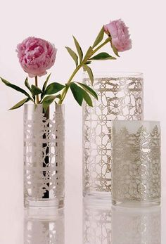 LACE! A collection of beautiful glassware, designed by Paola Navone for Egizia.