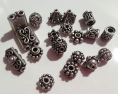 Sterling silver beads 19 Assorted Beads-Mixed by NajibJewellers