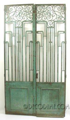 Iron gates as art. Art Deco, circa 1920s.