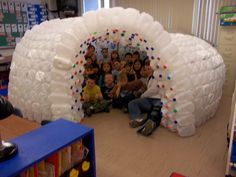 1000 images about milk jug igloos on pinterest milk jug for How to build an igloo out of milk jugs