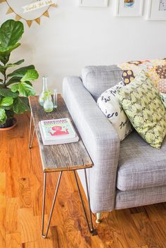 do it yourself stunning side tables 5 compiled by Decorating Your Small Space