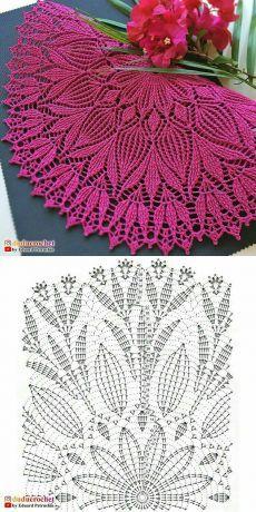 Crochet Bedspread Pattern, Crochet Table Runner Pattern, Free Crochet Doily Patterns, Crochet Doily Diagram, Crochet Flower Tutorial, Crochet Tablecloth, Crochet Motif, Crochet Designs, Crochet Flowers