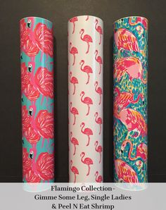 Flamingo Collection Themed Patterned Vinyl, Craft Adhesive Permanent Vinyl, Printed Vinyl, Lilly Pulitzer Vinyl Patterns, Flamingo Pattern