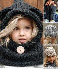 Les bonnets sont aussi indispensables pour les enfants quand l'hiver approche!