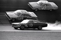 1960's NASCAR...#42 Lee Petty, #15 Johnny Sudderth (I think...anyone else know?) and #13 Harold Smith