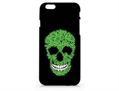 Skull Cannabis Weed Leaves Iphone 6 6S Case, Iphone 6 6S Hard Cover Case For Apple Iphone 6 /6S -Emerishop (VAE021.6bl) Emerishop