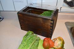 Wooden Compost Bin, Vegetables, Furniture, Food, Home Decor, Decoration Home, Room Decor, Essen, Vegetable Recipes