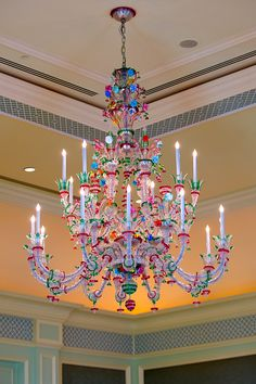Murano Chandelier- love the colours