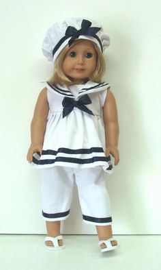 "SAILOR PANTS OUTFIT - 18"" Girl Doll Clothes - An American Boutique"
