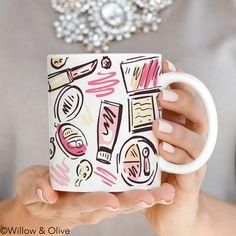 Makeup Mug, Makeup Beauty Mug, Trendy Mug, Mugs for Her, Fashion Mug, Gift for…