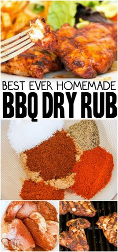 BBQ RUB RECIPE - Butter with a Side of Bread , < Best BBQ Dry Rub that can be used on chicken, beef, pork and fish. BBQ rub recipe that is simple to make and adds a great flavor to grilled meats. Grilled Chicken Rub, Bbq Chicken Rub, Grilled Chicken Seasoning, Chicken Recipes Dry, Dry Rub For Chicken, Dry Rub Recipes, Bbq Seasoning, Grilled Meat, Sides For Bbq Chicken