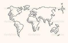 Afbeeldingsresultaat voor wereldkaart tekenen
