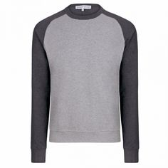 Fulton - Pique Cotton Sweatshirt - Dark Grey Melange/Light Grey Melange