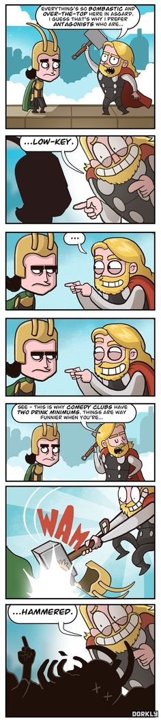 Funny pictures about Thor-ific Puns. Oh, and cool pics about Thor-ific Puns. Also, Thor-ific Puns. Loki Thor, Tom Hiddleston Loki, Loki Laufeyson, The Mighty Thor, Dc Movies, Lol, Marvel Dc Comics, Marvel Vs, The Villain