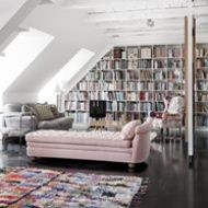 I love me some lofts Home Libraries, Public Libraries, Home And Deco, Cool Rooms, Home Interior Design, Danish Interior, Home Library Design, Library Ideas, Room Interior