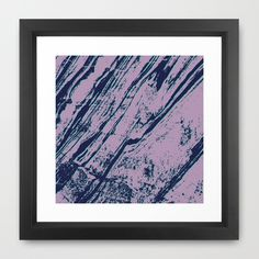 Lilac marble effect Framed Art Print