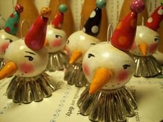 snowman lulettes by noodle and lou, via Flickr
