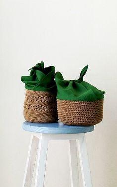 그린 파파야 향기 : 네이버 블로그 Crochet Purses, Branded Bags, Planter Pots, Japanese Bags, Bento, Bucket, Diy Wallet, Craft, Sacks