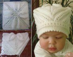 Интересная шапочка для маленькой девочки (Вязание спицами) — Журнал Вдохновение Рукодельницы