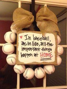 Baseball Wreath by PittsyzPlayhouse on Etsy