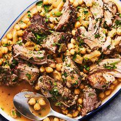 Slow-Cooked Pork with Chickpeas recipe | Epicurious.com