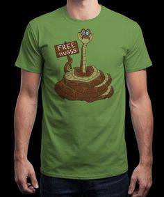 """""""Free Hugss"""" is today's £8/€10/$12 tee for 24 hours only on www.Qwertee.com Pin this for a chance to win a FREE TEE this weekend. Follow us on pinterest.com/qwertee for a second! Thanks:)"""