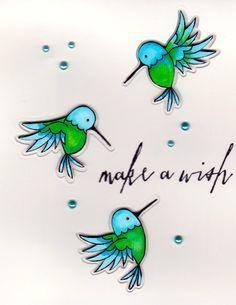 Tri - fold hummingbird card from Jennifer McGuire Ink / Pretty pink posh hummingbirds Cute Cartoon Drawings, Easy Drawings, Bullet Journal Graphics, Hummingbird Drawing, Jennifer Mcguire Ink, Pretty Pink Posh, Crazy Bird, Humming Birds, Bird Cards