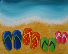 8fcf9617f434c Flip Flop painting for flip flop party! ☮ re-pinned by http