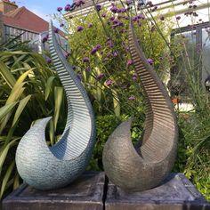 Ridge - Verdigris, Garden sculpture, Indoor sculpture, modern, abstract, Bronze sculpture, Garden art, Limited edition, Kara Sanches