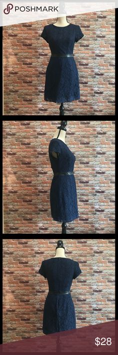LC Lauren Conrad Lace With Faux Leather Trim Dress