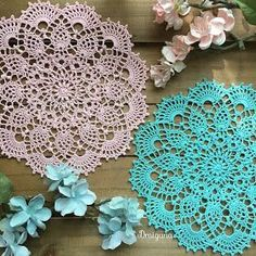 """This doily is 18 rounds and measures 8 1/2"""". A photo tutorial for this pattern is available here . Materials needed- 1 ball of ..."""