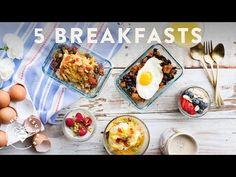 5 Make-Ahead Breakfast Bowls Mon-Fri 🍳 Honeysuckle #buzybeez - YouTube