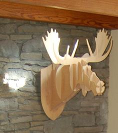 3d stags head from old cupboard hardboard backings #ecocreatehour