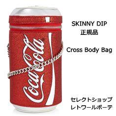skinnydip スキニーディップ COKE CAN CROSS BODY BAG かわいい 缶ジュース型 コーク コラボ 肩掛け チェーン クロスボディバッグ ショルダー 斜め掛け 斜めがけ レディース クロスチェーン レッド イギリス コラボコレクション 正規品 海外 ブランド
