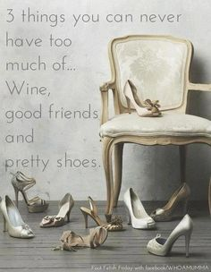 guess I'll have to take 2 out of 3. unless I use the pretty shoes as home décor. :)
