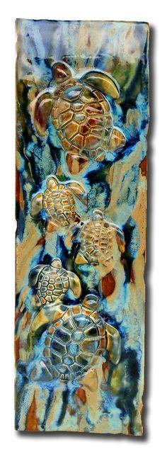 """Home Decor Turtles Plaque 8.5""""x23"""" LP05"""