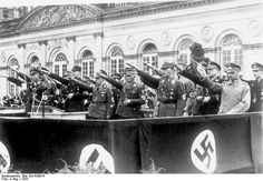 Wilhelm von Leeb, Prince Philipp, and others at a Nazi state function in Kassel, Germany, 1933