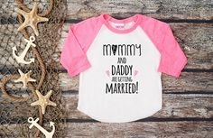Mommy and Daddy are Getting Married by bravelittleleaders on Etsy