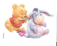 "Baby Winnie the Pooh Chewing on Baby Eeyore's Ear. ""Winnie the Pooh and Friends"" Winnie The Pooh Drawing, Winne The Pooh, Cute Winnie The Pooh, Winnie The Pooh Friends, Winnie The Pooh Pictures, Disney Drawings, Cartoon Drawings, Disney Art, Disney Pixar"